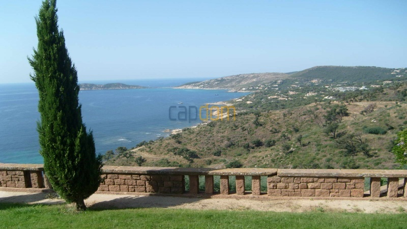 Genuine Castle with vineyards and panoramic sea views for rent heights of Ramatuelle Saint Tropez - view over cap taillat