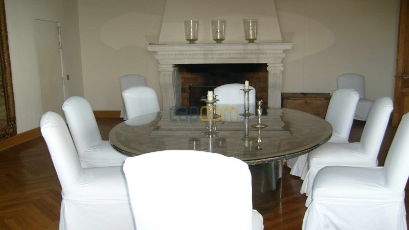 Genuine Castle with vineyards and panoramic sea views for rent heights of Ramatuelle Saint Tropez - dining room