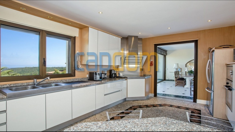 Large upscale Villa with sea view in a dominant position Valbonne Sophia Antipolis near Antibes - kitchen