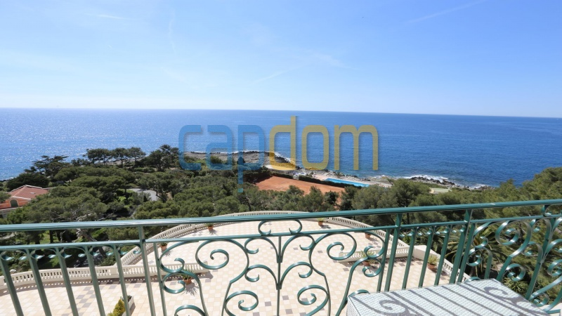 Splendid Apartment Panoramic Sea View Grand Hotel Cap Martin Roquebrune - view from balcony
