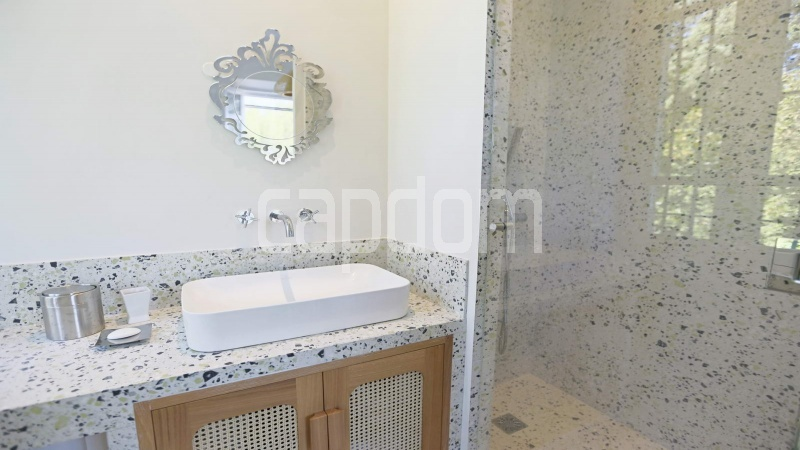 417 Charming sunny Villa for holiday rental in Cap d Antibes with beautiful view over the bay and the old town : facade - bathroom 2