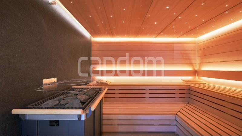 Large apartment for sale Cap d'Antibes near Pinède beaches and shops in brand-new residential complex - sauna