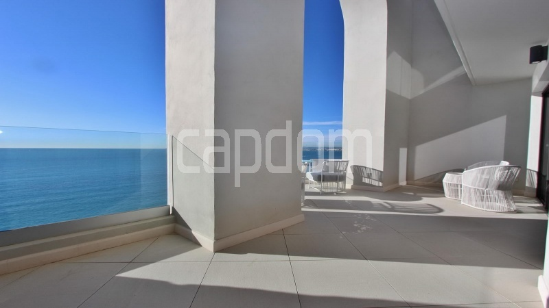 Modern Appartment in waterfront residence Maeterlinck in Nice - terrace