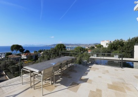 Holiday rental villa cap antibes sea view - View from terrace