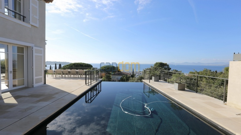 Holiday rental villa cap antibes sea view - swimming pool