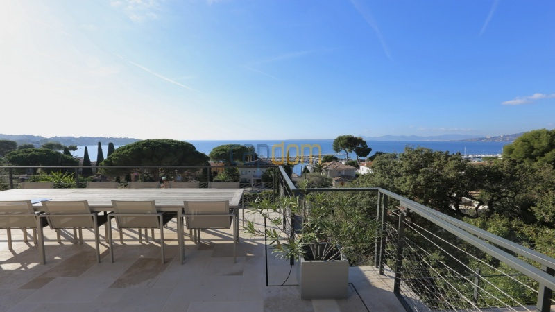 Holiday rental villa cap antibes sea view - West side view from terrace