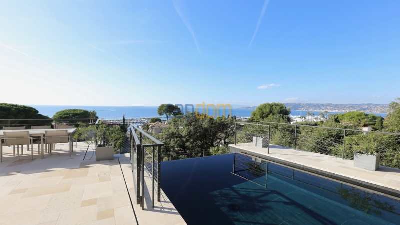 Holiday rental villa cap antibes sea view - west corner