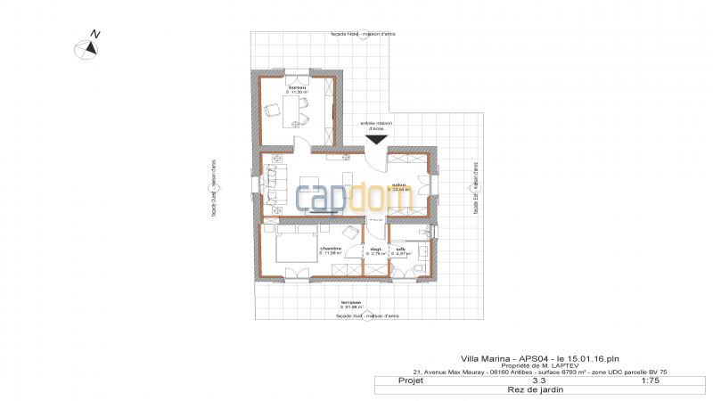 Property to restore Salis Beach Cap d Antibes - mapfloor guest house