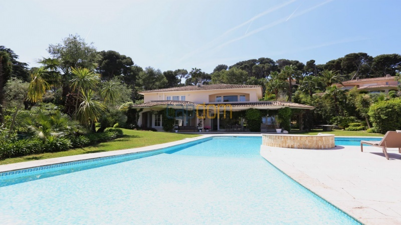 Gorgeous waterfront villa with panoramic sea view  cap d antibes  - large swimming pool