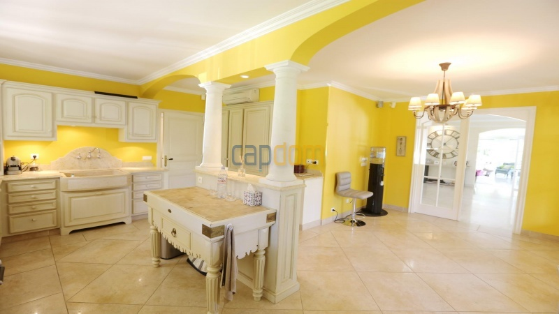 Gorgeous waterfront villa with panoramic sea view  cap d antibes  - kitchen hall