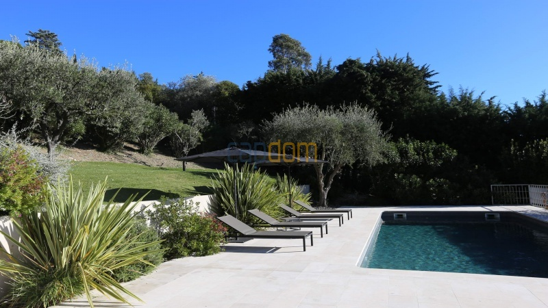 Brand new modern Villa on the heights of Mougins sea View - swimming pool area