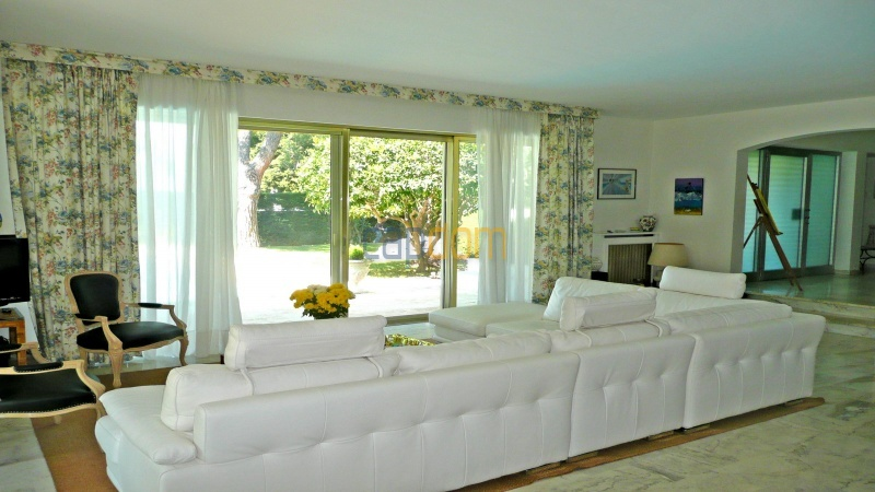 Californian Villa for Vacation Rental Cap d'Antibes near Eden Roc - Living room