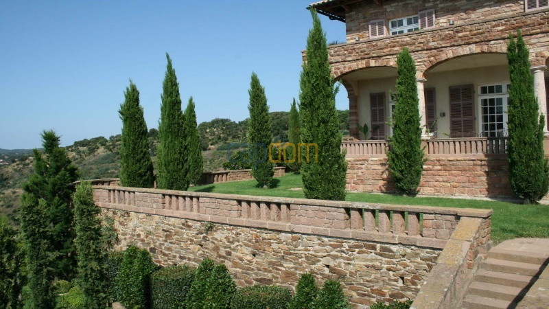 Genuine Castle with vineyards and panoramic sea views for rent heights of Ramatuelle Saint Tropez - south terrace