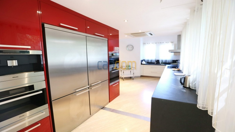Modern villa facing the beach on the west side of Cap d'Antibes - kitchen
