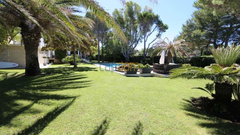 Modern villa facing the beach on the west side of Cap d'Antibes - gardens