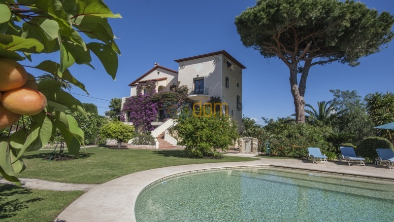 Villa for sale  Cap d'Antibes - view from garden